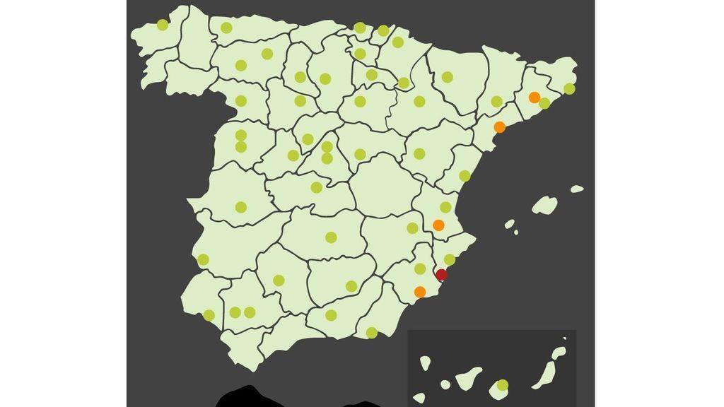 map aalerta polen urticaceas