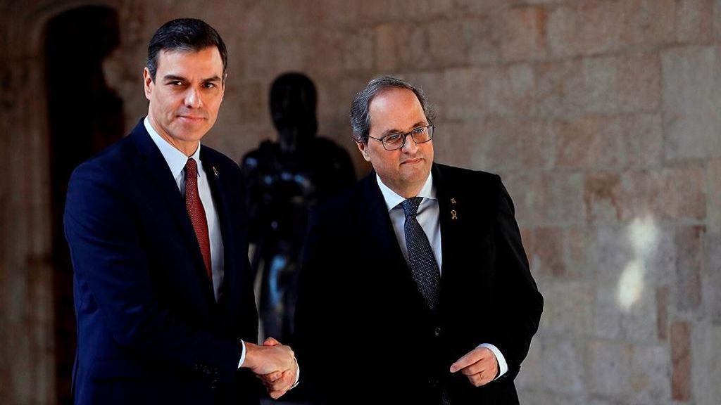 En directo: Sánchez y Torra comparecen tras su reunión