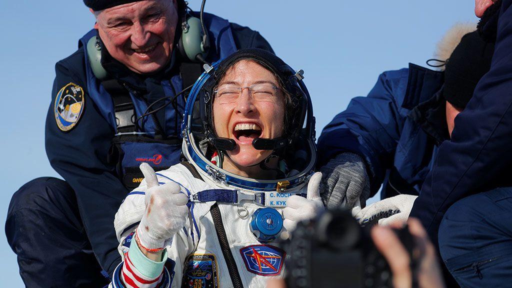 Christina Koch: la mujer astronauta que más tiempo ha permanecido en el  espacio - NIUS