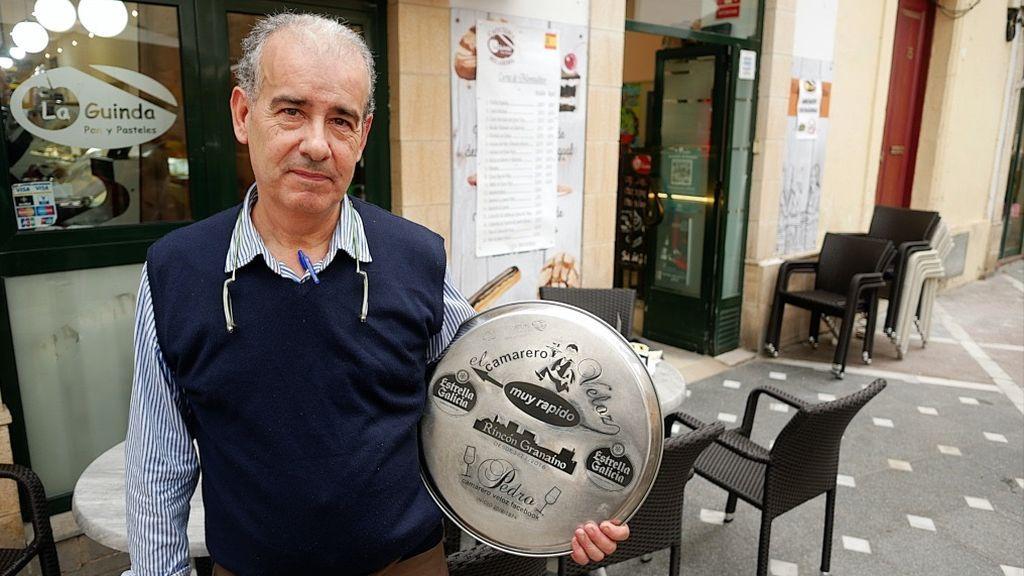 Pedro y su bandeja personalizada