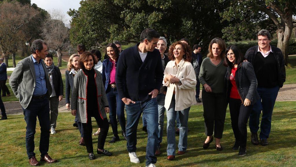 Los ministros de Sánchez llegan a Quintos de Mora para el fin de semana de 'convivencias'