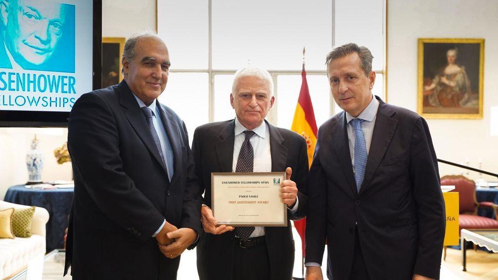 Paolo Vasile, distinguido con el Premio Eisenhower Fellowships por la independencia informativa de Telecinco y Cuatro