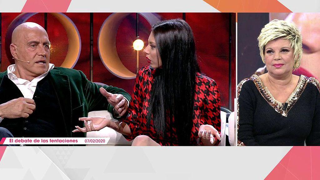 Terelu Campos reacciona al enfrentamiento entre Kiko Matamoros y Alejandra Rubio