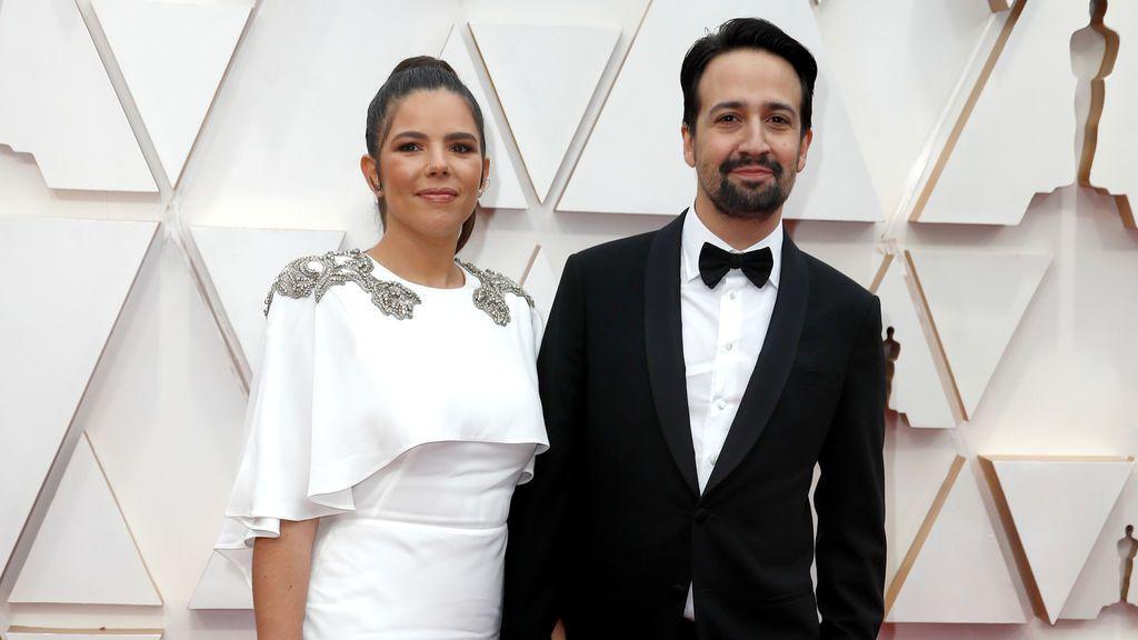 Lin-Manuel Miranda y Vanessa Nadal en la alfombra roja de los Premios Óscar 2020