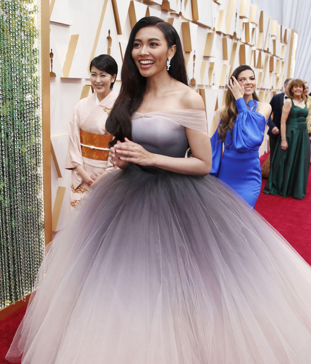 Gam Wichayanee posa en la alfombra roja de los Premios Óscar 2020