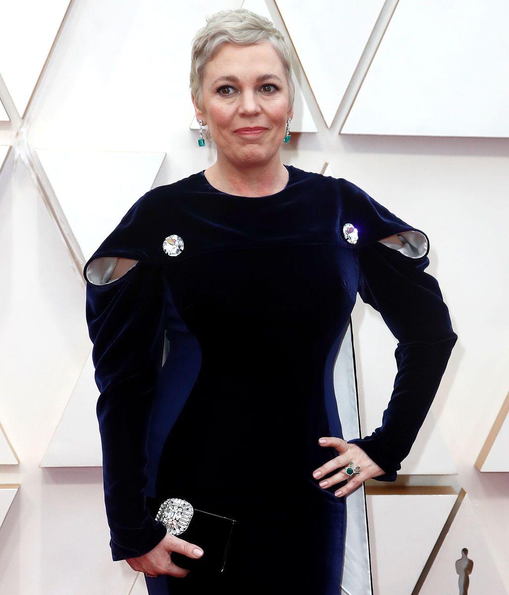Olivia Coleman posa en la alfombra roja de los Premios Óscar 2020