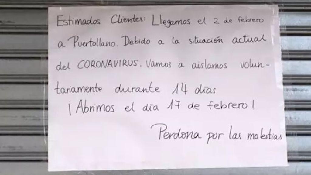 """""""Vamos a aislarnos voluntariamente 14 días"""": la iniciativa de un bazar chino en Puertollano por el coronavirus"""
