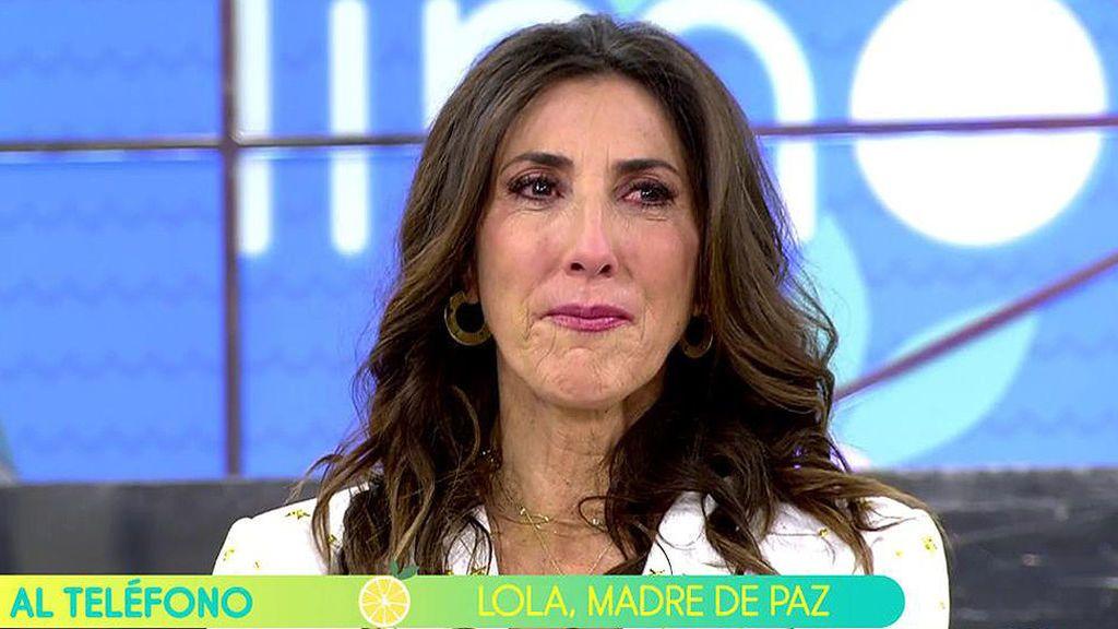 Paz Padilla se emociona al escuchar a su madre.