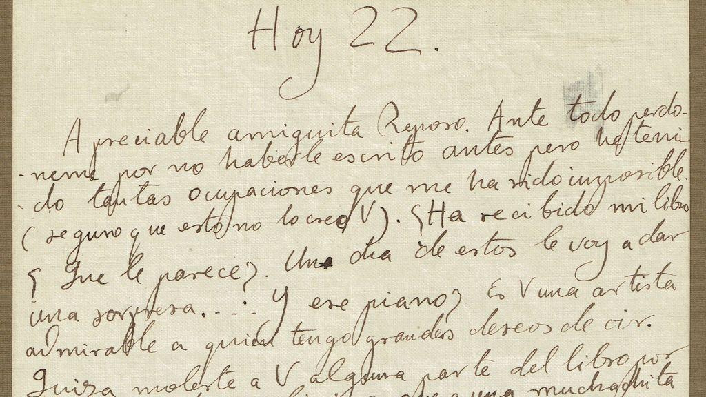 Imagen de la carta de Federico García Lorca en venta en Kotte Autographs.
