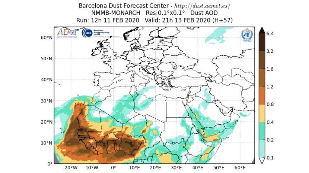 barcelona dust
