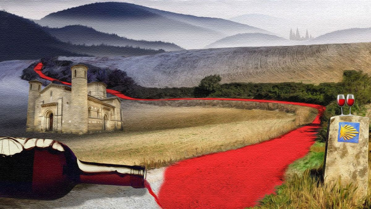 El vino, Camino de Santiago