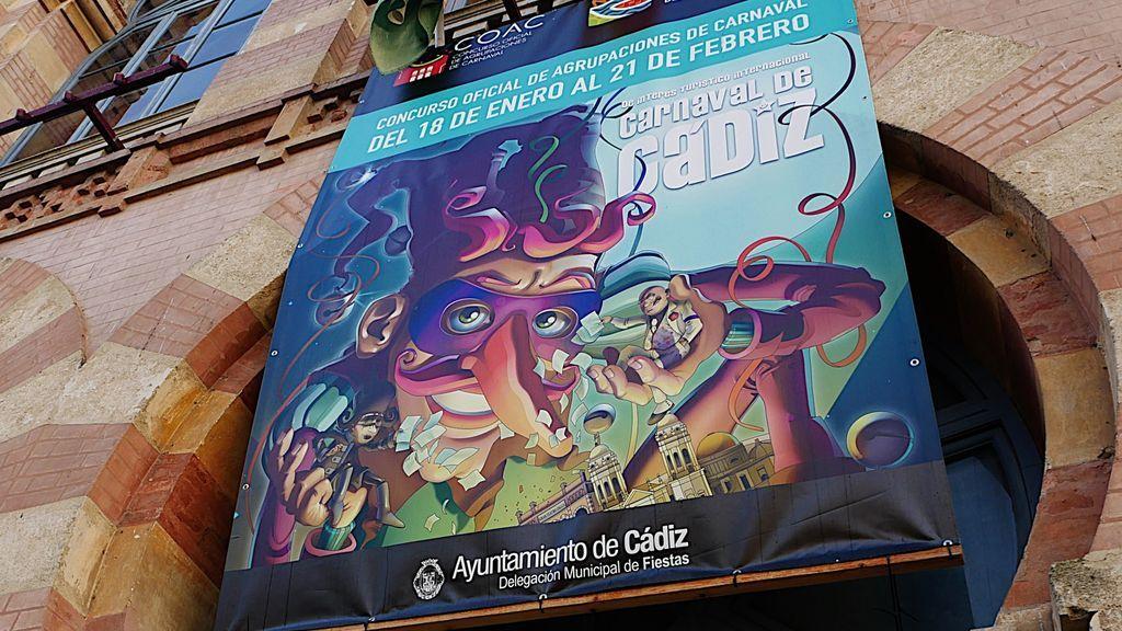 Un cartel del carnaval de Cádiz