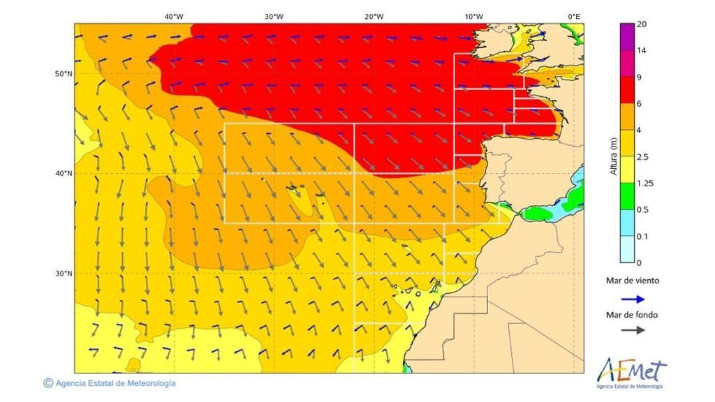 olas 6 metros lunes 17