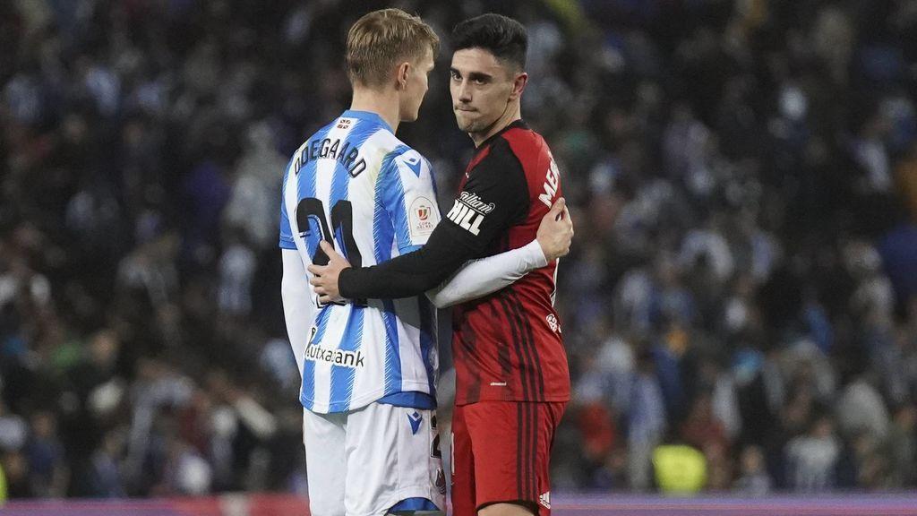 El Mirandés sigue soñando con la Copa tras caer 2-1 ante la Real en la ida de semifinales