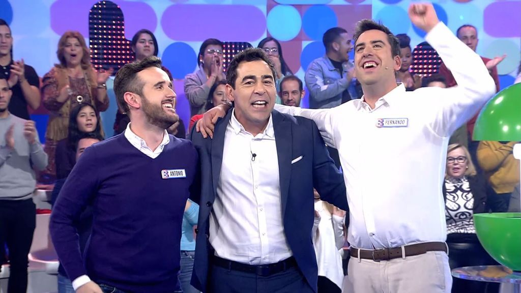 Antonio y Fernando vencen al bribón y se llevan 10.000 euros