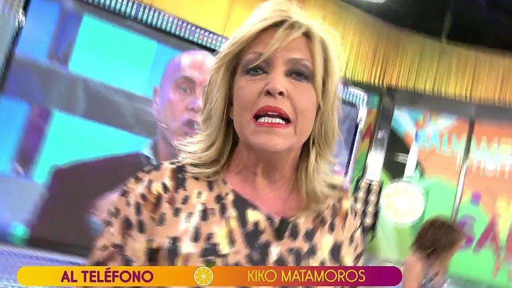 """Lydia Lozano pierde los nervios con Kiko Matamoros tras llamarla """"lerda"""""""