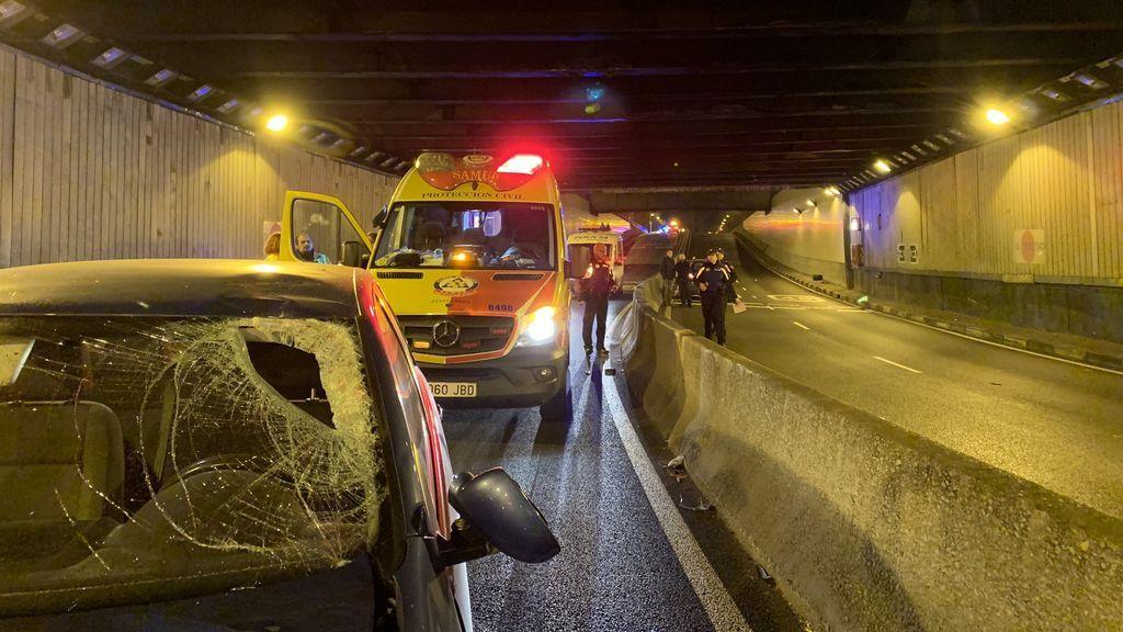 Muere un motorista de 36 años en un accidente ocurrido el túnel de Doctor Esquerdo en Madrid
