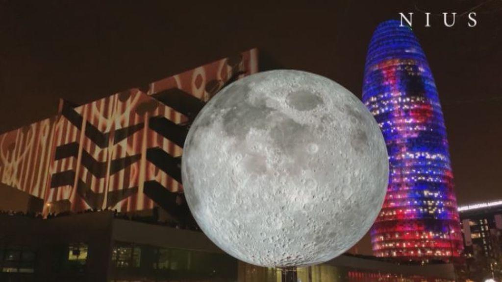 Espectáculo de luces en Barcelona