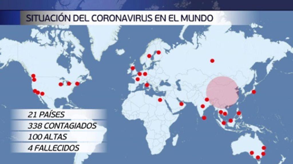 Nueva muerte por coronavirus fuera de China, esta vez en Taiwan: ya hay 21 países afectados con 338 casos