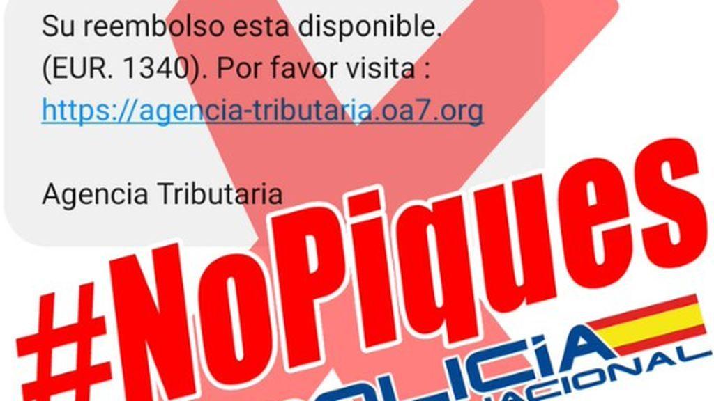 El último timo que usa a la falsa Agencia Tributaria como cebo: Su reembolso de 1.340 euros está listo