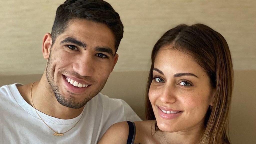 Hiba Abouk y Achraf Hakimi muestran por primera vez la cara de su bebé