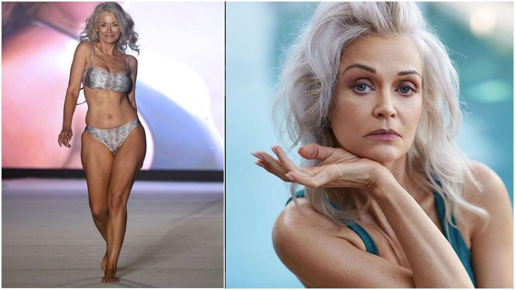 Hermosa mujer de 56 años ganó concurso de bikinis y ahora