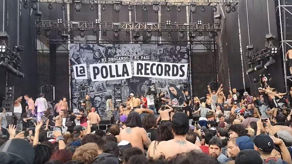 Suspendido el caótico concierto de La Polla Records en Chile por invasión del escenario
