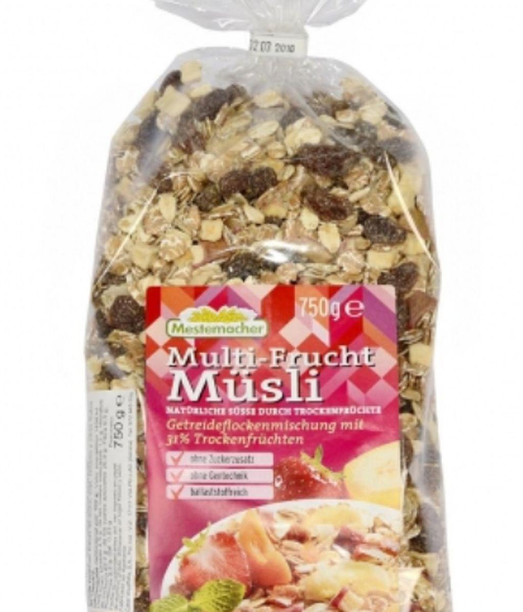 Alerta sanitaria sobre un muesil con frutas de la marca Mestemach