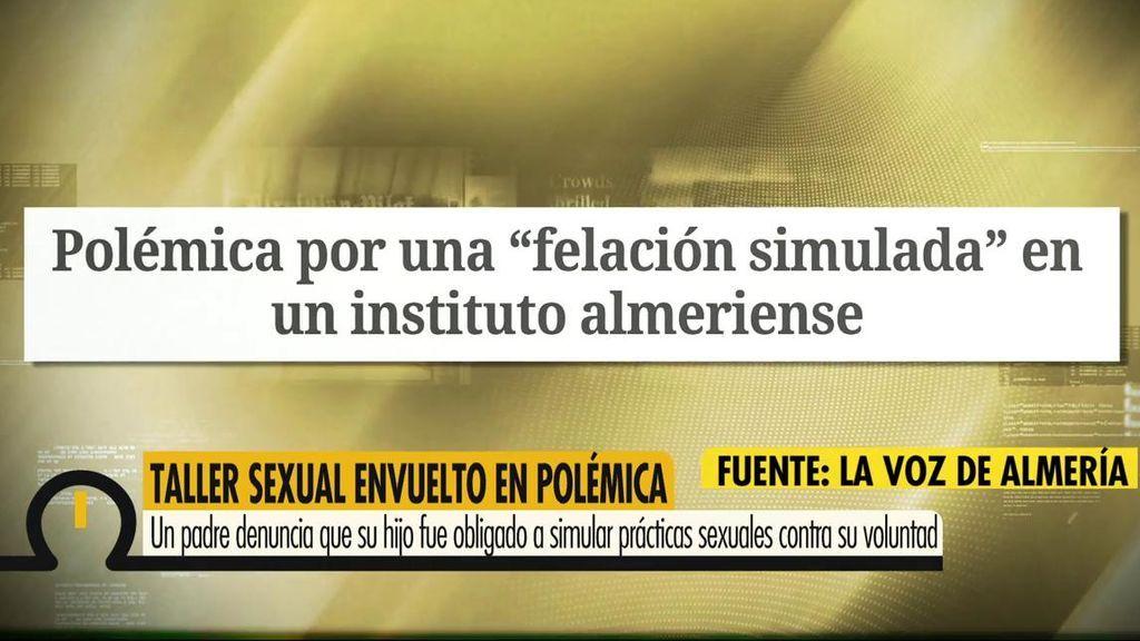 """Polémica por una """"felación simulada"""" en un instituto almeriense"""