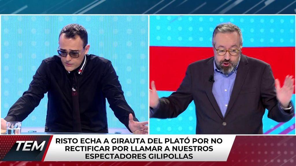 Girauta se niega a rectificar por insultar a la audiencia y Risto le echa del programa