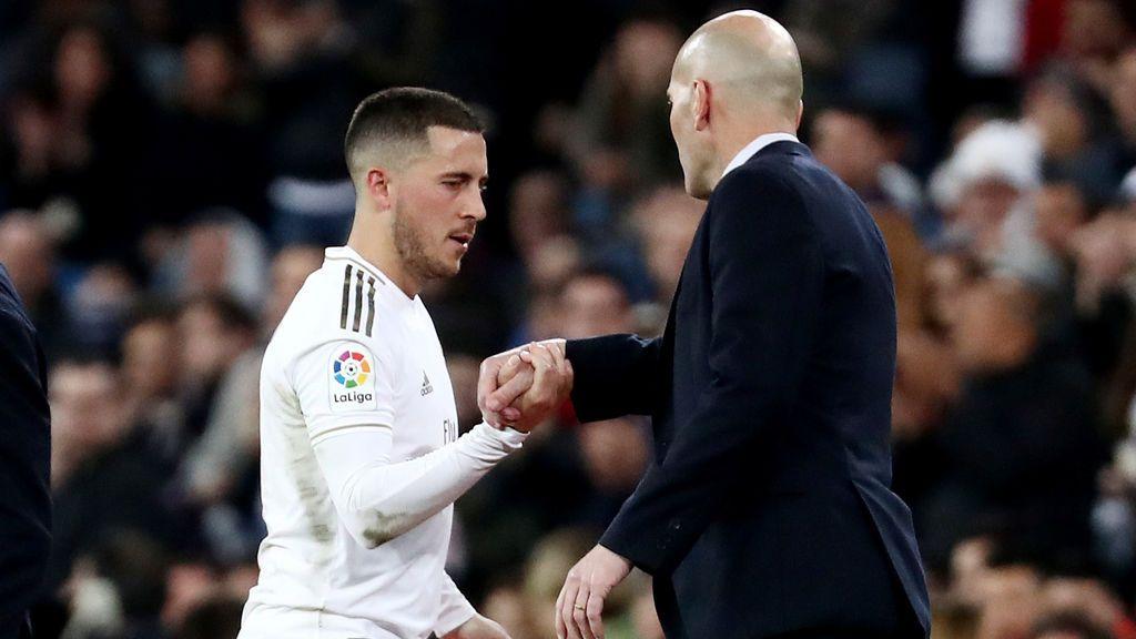 """Zidane, ilusionado con el regreso de Hazard: """"No era fácil hacer un partido así"""""""