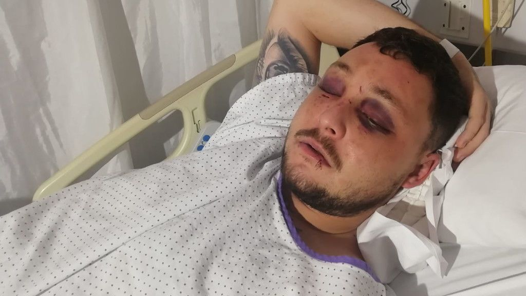 Raúl, el joven que ha acabado en el hospital al impedir una agresión machista en Murcia