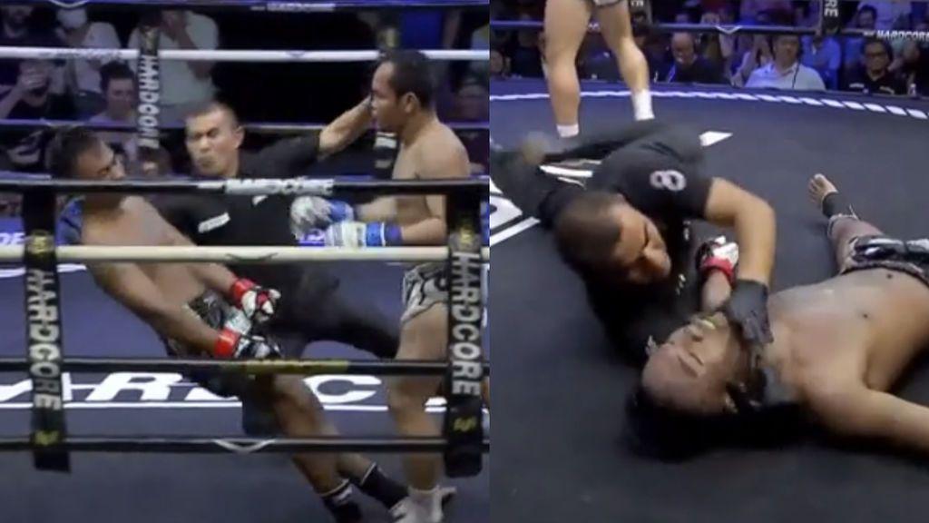 El árbitro que salvó la vida a Neymar tras estar a punto de romperse la cabeza durante una pelea de Muay Thai