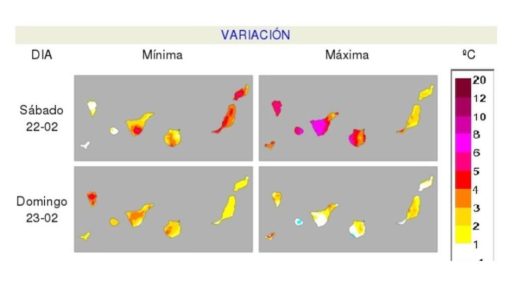 variacion canarias finde