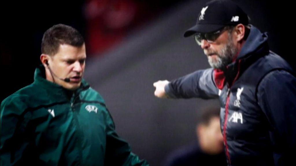 Klopp y los jugadores del Liverpool se enfadaron con el Atlético por la celebración sobre el terreno de juego y las pérdidas de tiempo