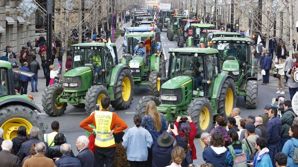 Granada se convierte hoy en el epicentro de la protesta agraria
