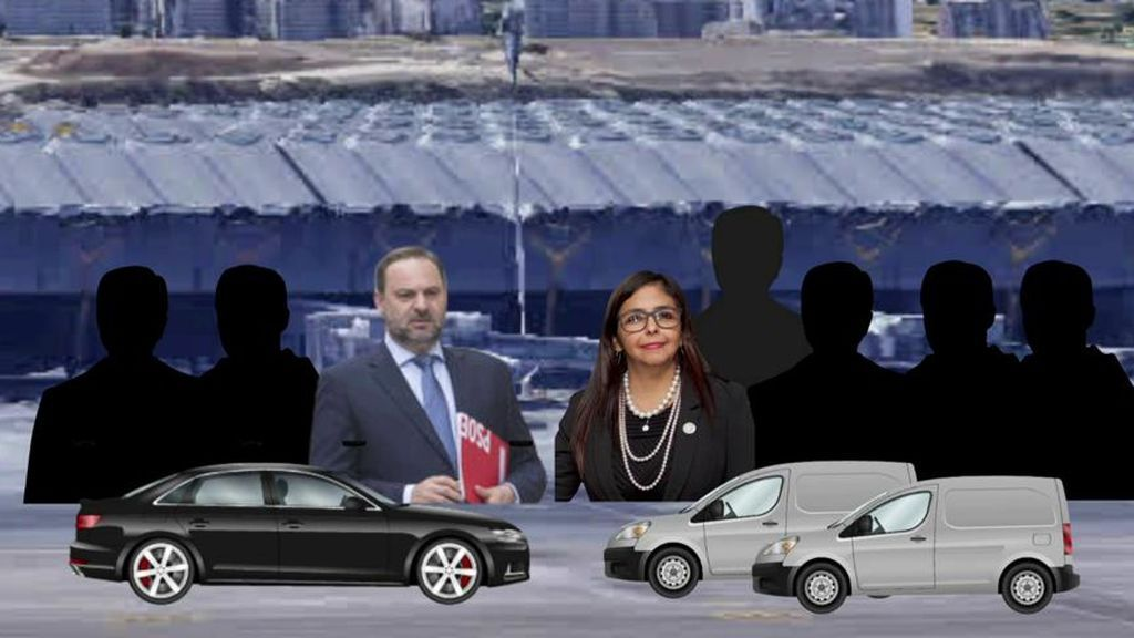 Las imágenes del 'caso Delcy': así son las grabaciones del encuentro de Ábalos y la vicepresidenta de Maduro en el aeropuerto