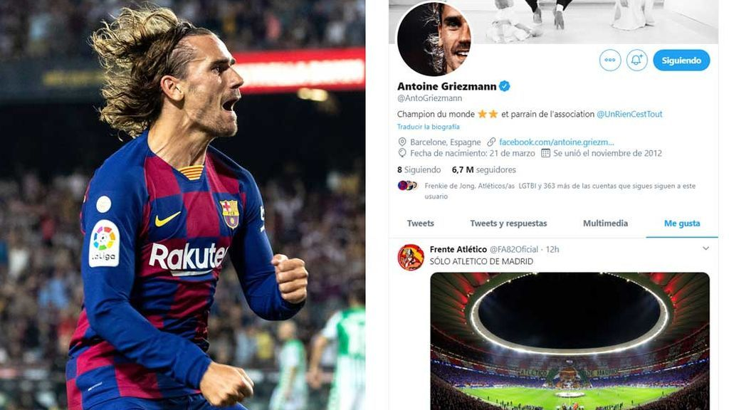 La añoranza de Griezmann al Atlético de Madrid: sus 'me gusta' a la afición del Metropolitano