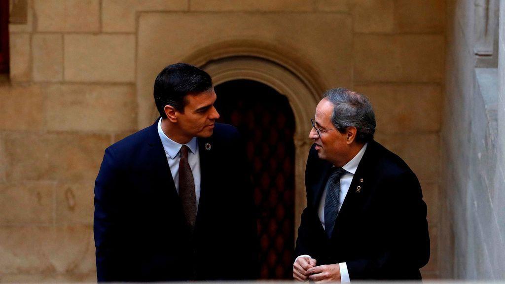 Sánchez y Torra en la Generalitat