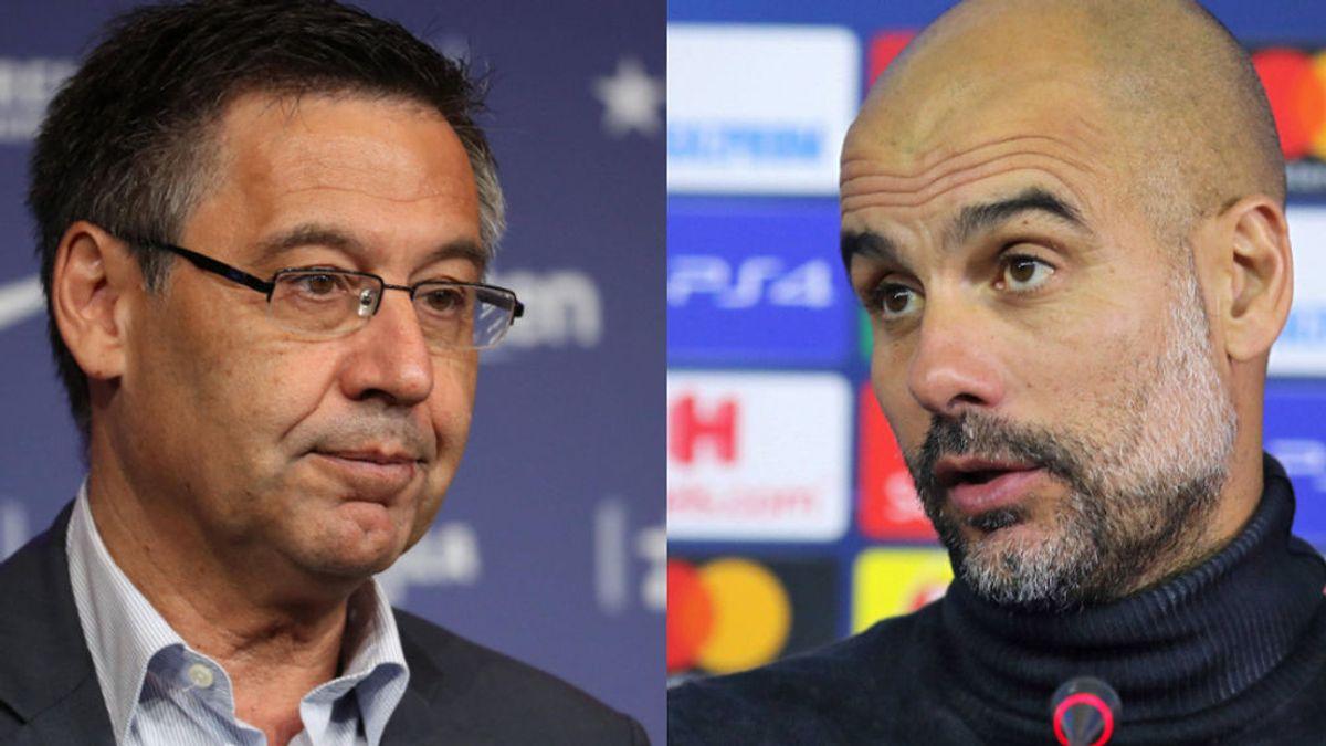 """El recado de Guardiola a Bartomeu sobre la sanción al City y sobre el escándalo de las redes sociales: """"Que no hable demasiado alto"""""""