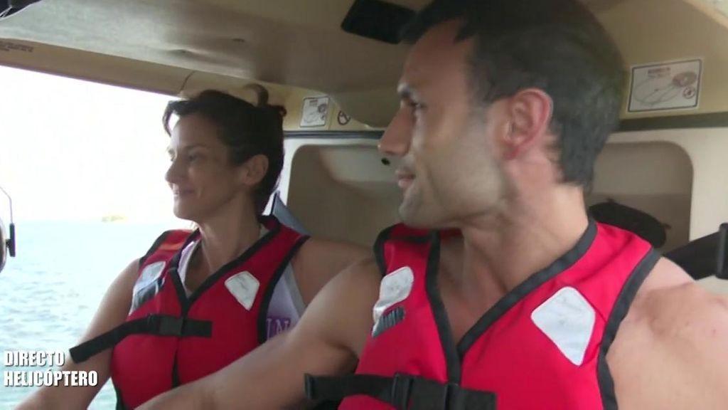 """Elena y Jorge Pérez saltan desde el helicóptero: """"No puedo dejar de reír"""""""
