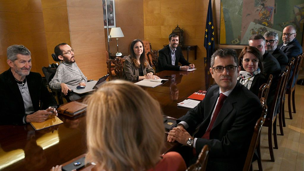 Comisión de coordinación del pacto PSOE-Unidas Podemos
