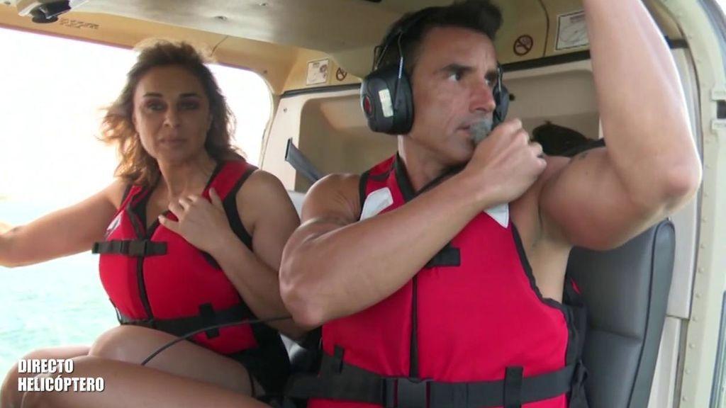Hugo manda un mensaje a su hijo en común con Adara y a Ana Mª Aldón le entra la risa nerviosa antes de saltar del helicóptero