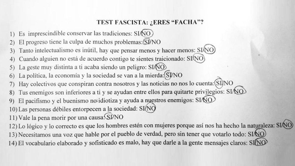 """La inspección educativa investigará el """"test fascista"""" de un profesor de instituto en Asturias"""