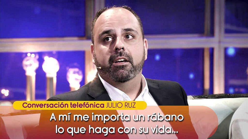 Julio Ruz arremete contra María Jesús Ruiz