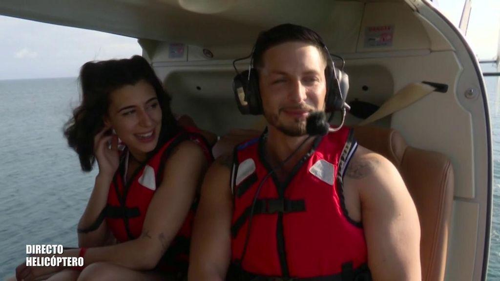"""Bea y Nino Vargas saltan desde el helicóptero: """"¡Esperame!"""""""