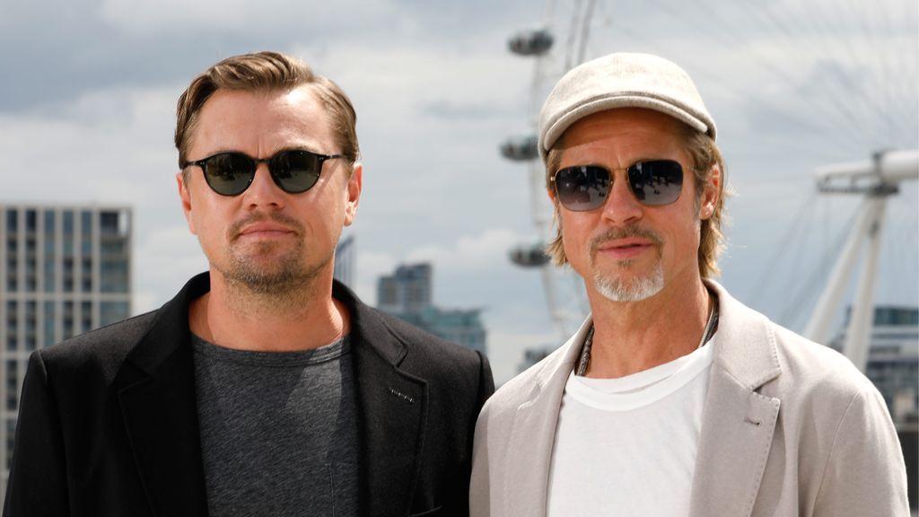 Brad Pitt y Leonardo DiCaprio, en la presentaión de 'Había una vez en Hollywood'