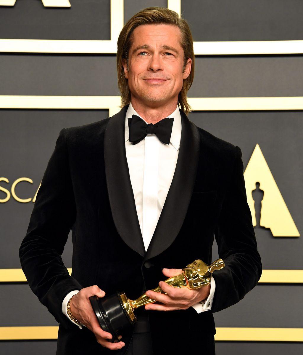 Brad Pitt, con su primer Oscar tras la celebración de la gala