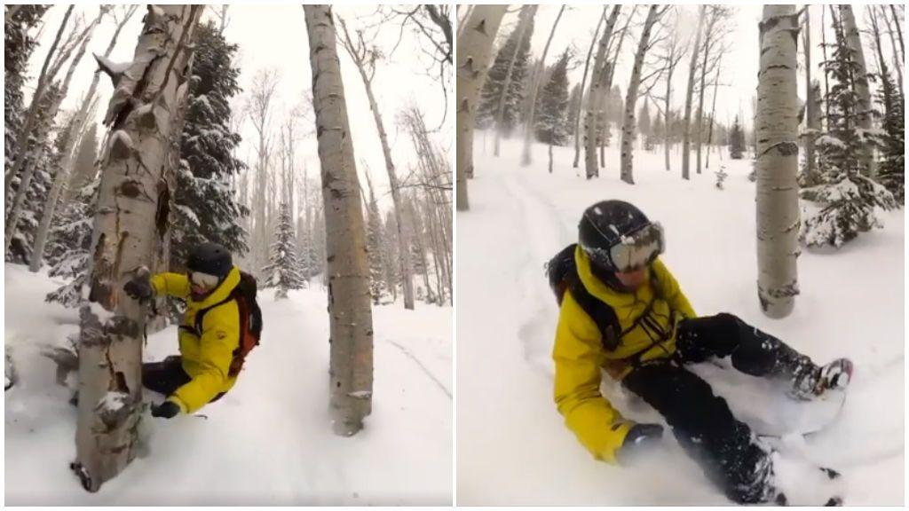 Se parte la pierna y desciende sin ayuda: el snowboarder que grabó su accidente fuera de pista