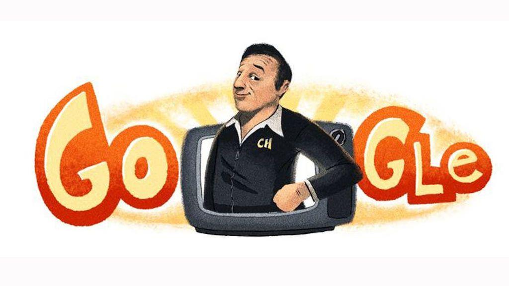 El 'doodle' de Google en América Latina honor a Roberto Gómez Boloños